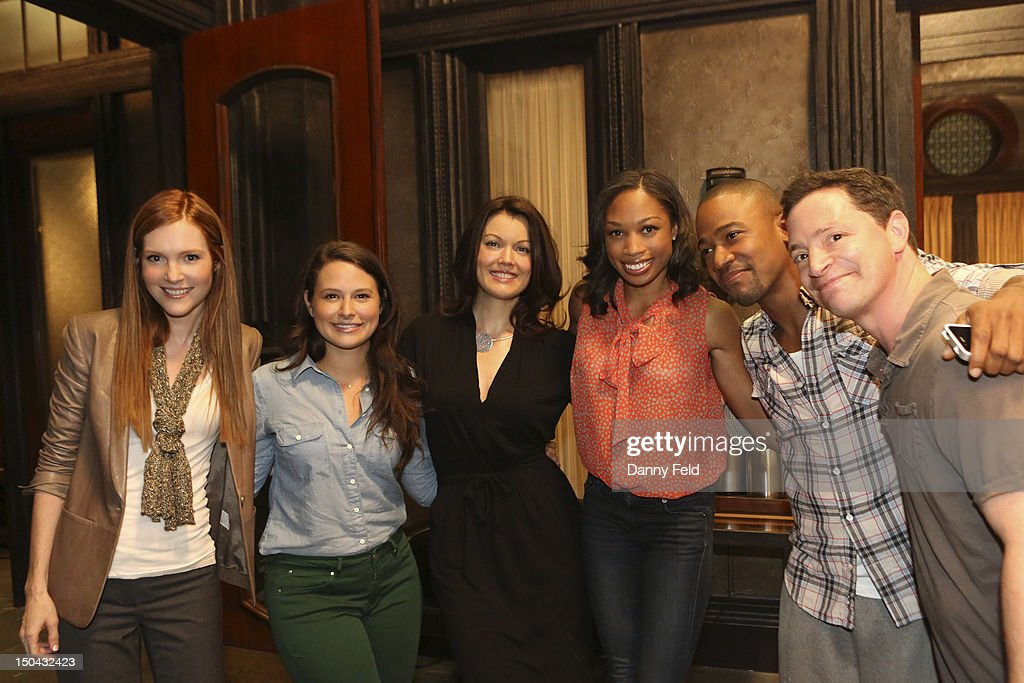SCANDAL - Olympic Gold Medalist Allyson Felix visited with the cast of ABC's 'Scandal,' on Thursday, August 17, 2012. MALINA