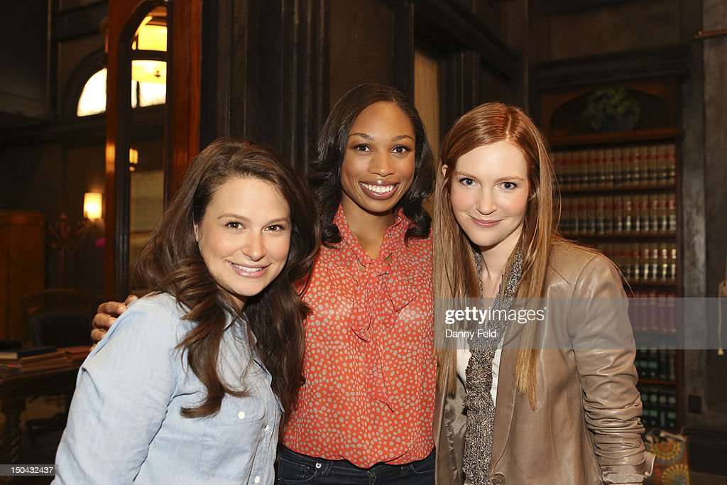 SCANDAL - Olympic Gold Medalist Allyson Felix visited with the cast of ABC's 'Scandal,' on Thursday, August 17, 2012. STANCHFIELD