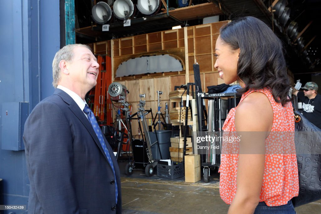SCANDAL - Olympic Gold Medalist Allyson Felix visited with the cast of ABC's 'Scandal,' on Thursday, August 17, 2012. FELIX