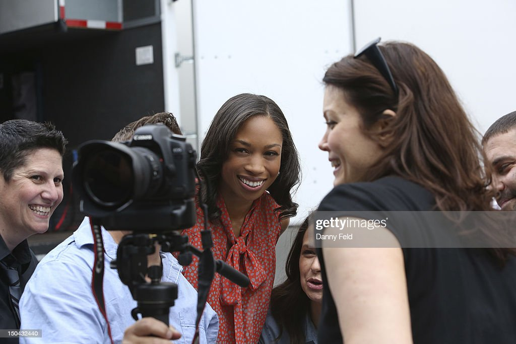 SCANDAL - Olympic Gold Medalist Allyson Felix visited with the cast of ABC's 'Scandal,' on Thursday, August 17, 2012. , BELLAMY