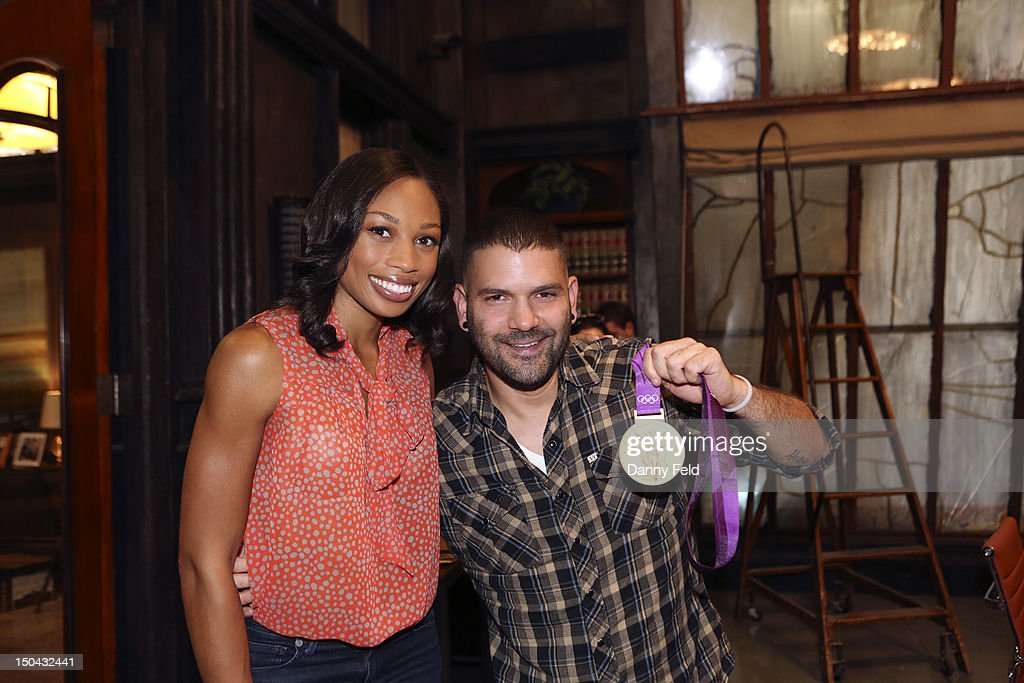 SCANDAL - Olympic Gold Medalist Allyson Felix visited with the cast of ABC's 'Scandal,' on Thursday, August 17, 2012. DIAZ