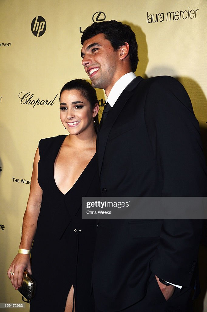 US Olympic gold medalist Aly Raisman attends The Weinstein Company's 2013 Golden Globe Awards after party presented by Chopard, HP, Laura Mercier, Lexus, Marie Claire, and Yucaipa Films held at The Old Trader Vic's at The Beverly Hilton Hotel on January 13, 2013 in Beverly Hills, California.