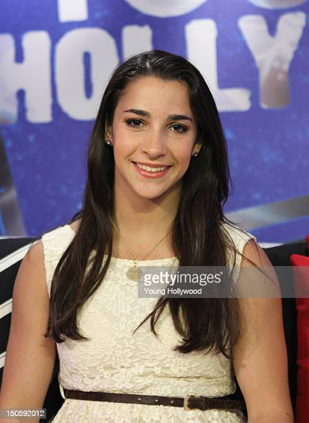 Olympic gold medalist Aly Raisman visits the Young Hollywood Studio on August 22 2012 in Los Angeles California