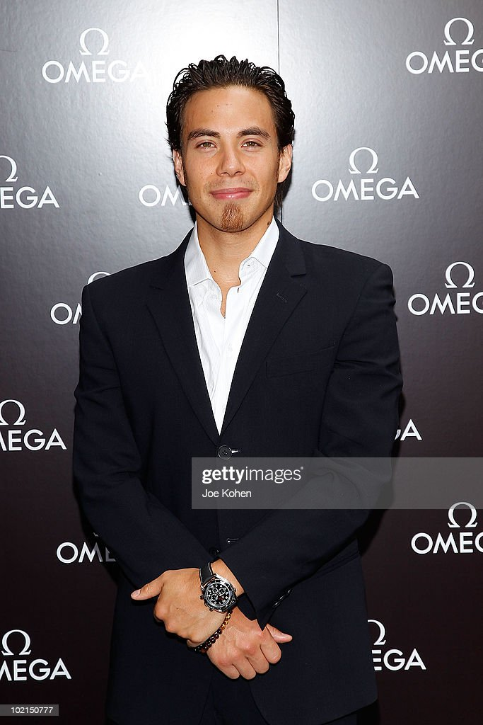 Olympic Gold Medalist Apolo Ohno attends the OMEGA hosted father's day appearance at Omega Flagship Boutique on June 16, 2010 in New York City.
