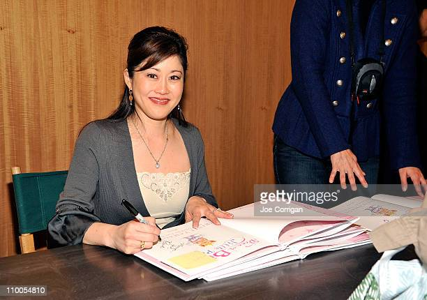 Olympic gold medalist author Kristi Yamaguchi signs copies of her book 'Dream Big Little Pig' at Barnes Noble 86th Lexington on March 14 2011 in New...