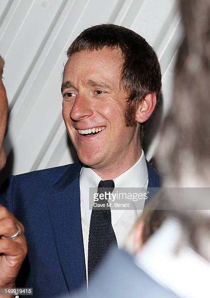 Olympic Gold Medalist Bradley Wiggins attends as The Stone Roses perform a secret gig at adidas Underground on August 6 2012 in London England