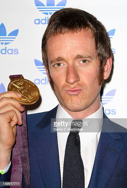 Olympic Gold Medalist Bradley Wiggins attends The Stone Roses Adidas secret gig held at Adidas Underground on August 6 2012 in London England