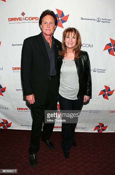 Olympic Gold Medalist Bruce Jenner and country singer Patty Loveless attend the DRIVE4COPD Drivers Meeting at the ESPNZone on February 3 2010 in New...