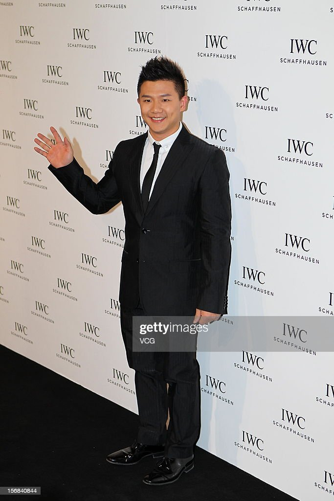 Olympic gold medalist Chen Yibing attends IWC flagship store opening ceremony at Parkview Green Shopping Mall on November 22, 2012 in Beijing, China.