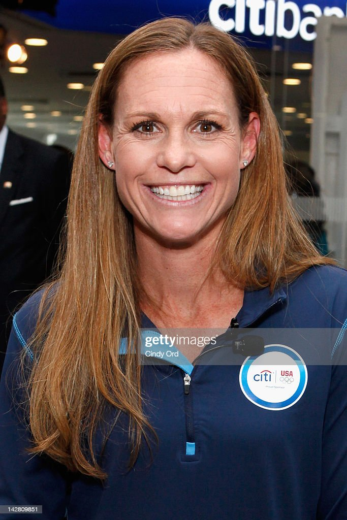Olympic gold medalist <a gi-track='captionPersonalityLinkClicked' href=/galleries/search?phrase=Christie+Rampone&family=editorial&specificpeople=737139 ng-click='$event.stopPropagation()'>Christie Rampone</a> attends the Citi's Team USA Sponsorship Launch at Citibank on April 12, 2012 in New York City.