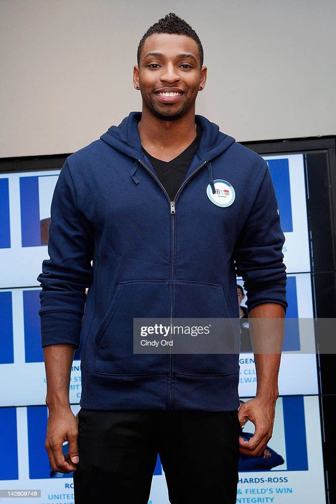 Olympic gold medalist <a gi-track='captionPersonalityLinkClicked' href=/galleries/search?phrase=Cullen+Jones&family=editorial&specificpeople=1047215 ng-click='$event.stopPropagation()'>Cullen Jones</a> attends the Citi's Team USA Sponsorship Launch at Citibank on April 12, 2012 in New York City.