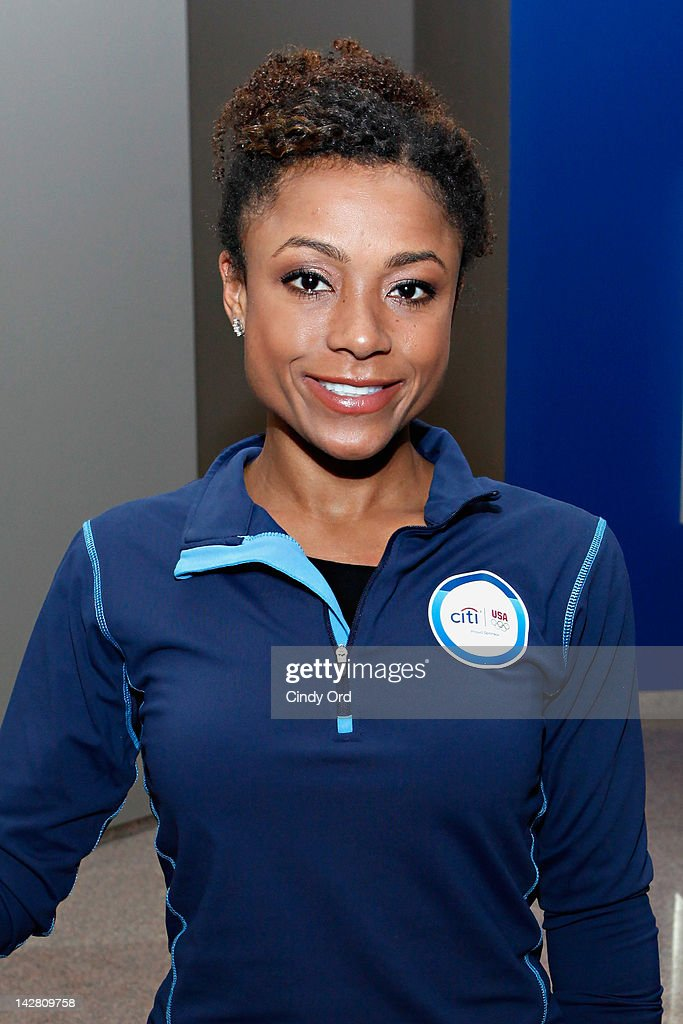 Olympic gold medalist <a gi-track='captionPersonalityLinkClicked' href=/galleries/search?phrase=Dominique+Dawes&family=editorial&specificpeople=243099 ng-click='$event.stopPropagation()'>Dominique Dawes</a> attends the Citi's Team USA Sponsorship Launch at Citibank on April 12, 2012 in New York City.