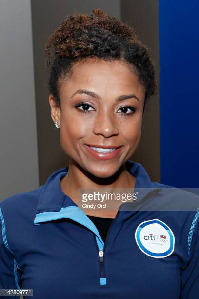 Olympic gold medalist Dominique Dawes attends the Citi's Team USA Sponsorship Launch at Citibank on April 12 2012 in New York City