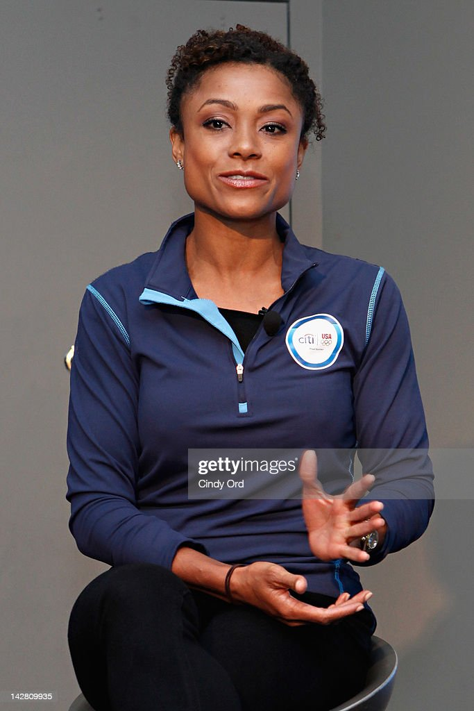 Olympic gold medalist Dominique Dawes attends the Citi's Team USA Sponsorship Launch at Citibank on April 12, 2012 in New York City.
