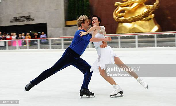 Olympic Gold Medalist Ice Dancers Charlie White and Meryl Davis perform and host the Season's First Skate at The Rink at Rockefeller Center on...
