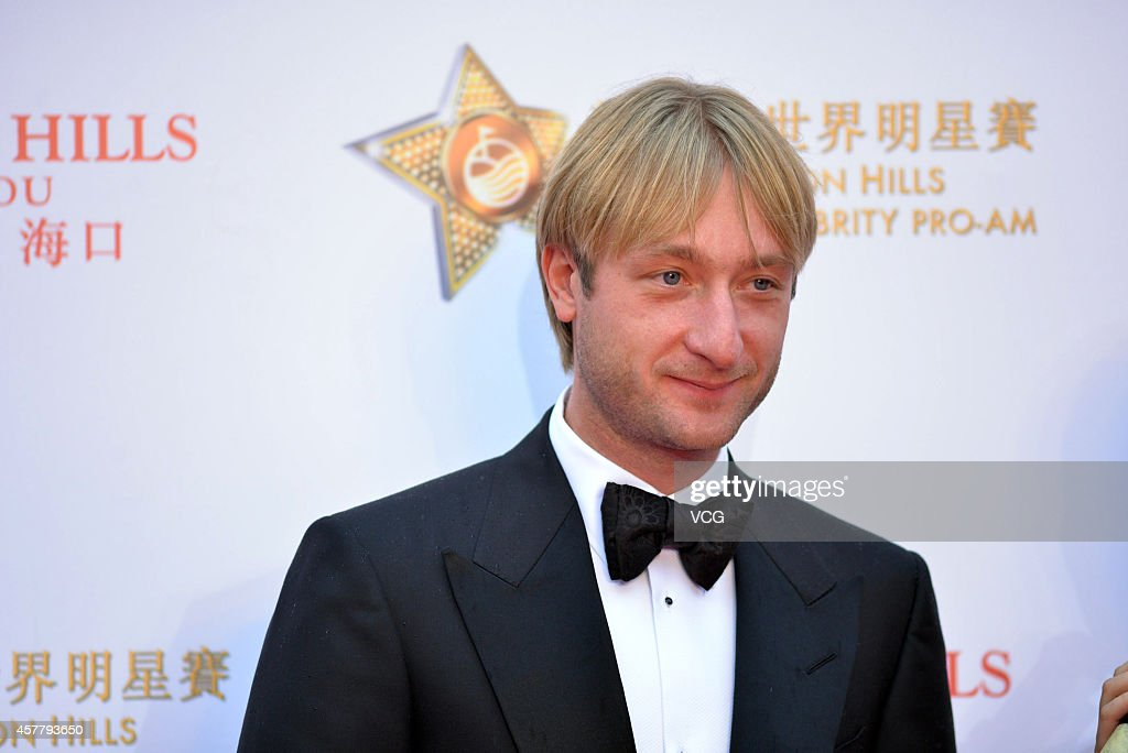 Olympic Gold medalist in figure skating <a gi-track='captionPersonalityLinkClicked' href=/galleries/search?phrase=Evgeni+Plushenko&family=editorial&specificpeople=211142 ng-click='$event.stopPropagation()'>Evgeni Plushenko</a> attends the Mission Hills World Celebrity Pro-Am opening ceremony at Mission Hills - Huayi Brothers - Feng Xiaogang Movie Town on October 24, 2014 in Haikou, China.