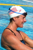 Olympic Gold Medalist Lindsay Benko at practice