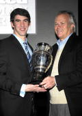 Olympic Gold Medalist Michael Phelps and Chairman of NBC Universal Sports Dick Ebersol attend the 2008 Sports Illustrated Sportsman of the Year award...
