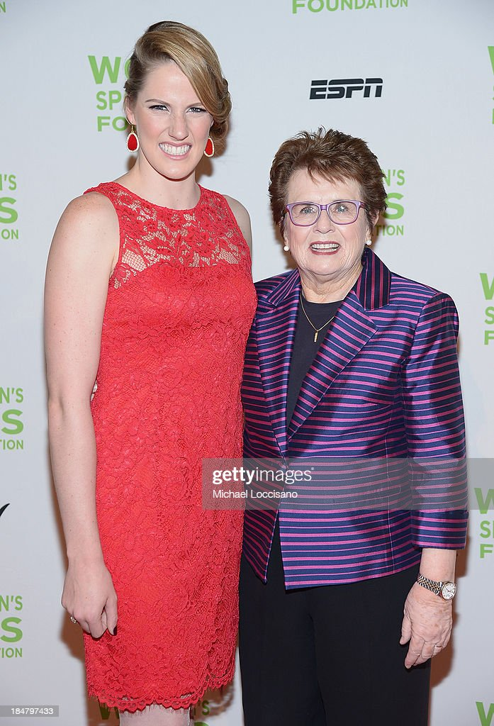 Olympic gold medalist Missy Franklin (L) and Womens Sports Foundation founder Billie Jean King attend the 34th annual Salute to Women In Sports Awards at Cipriani, Wall Street on October 16, 2013 in New York City.