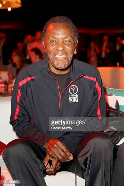 Olympic gold medalist Rafer Johnson attends 'CocaCola and ESPN Celebration Of The Human Spirit Of Eunice Kennedy Shriver' at the Special Olympics...