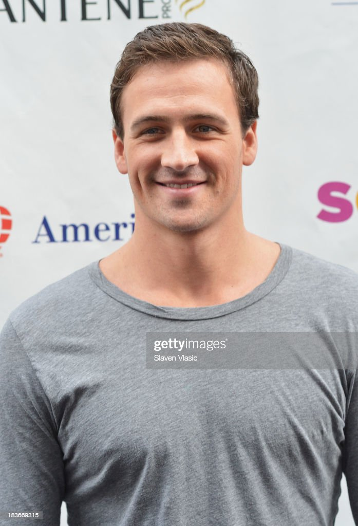 Olympic Gold Medalist Ryan Lochte attends day 1 of 'Swim For Relief' Benefiting Hurricane Sandy Recovery at Herald Square on October 8, 2013 in New York City.