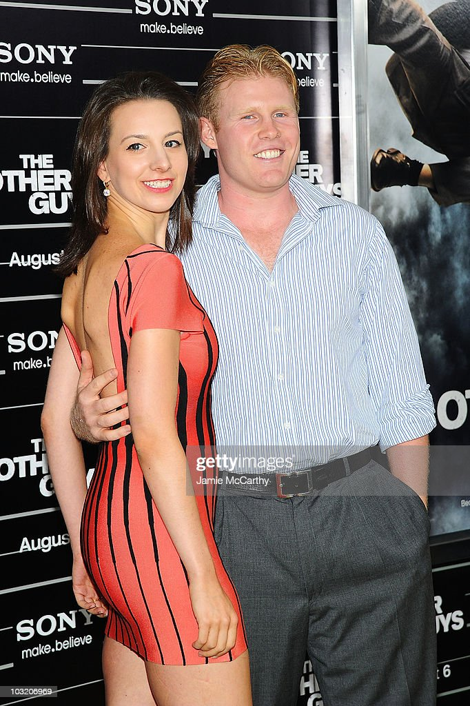 Olympic Gold Medalist Sarah Hughes and Andrew Giuliani attend the premiere of 'The Other Guys' at the Ziegfeld Theatre on August 2, 2010 in New York City.