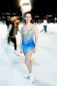 Olympic gold medalist Sarah Hughes attends CIti Pond At Bryant Park Opens With Olympic Skaters Broadway Performers at Bryant Park on October 29 2010...