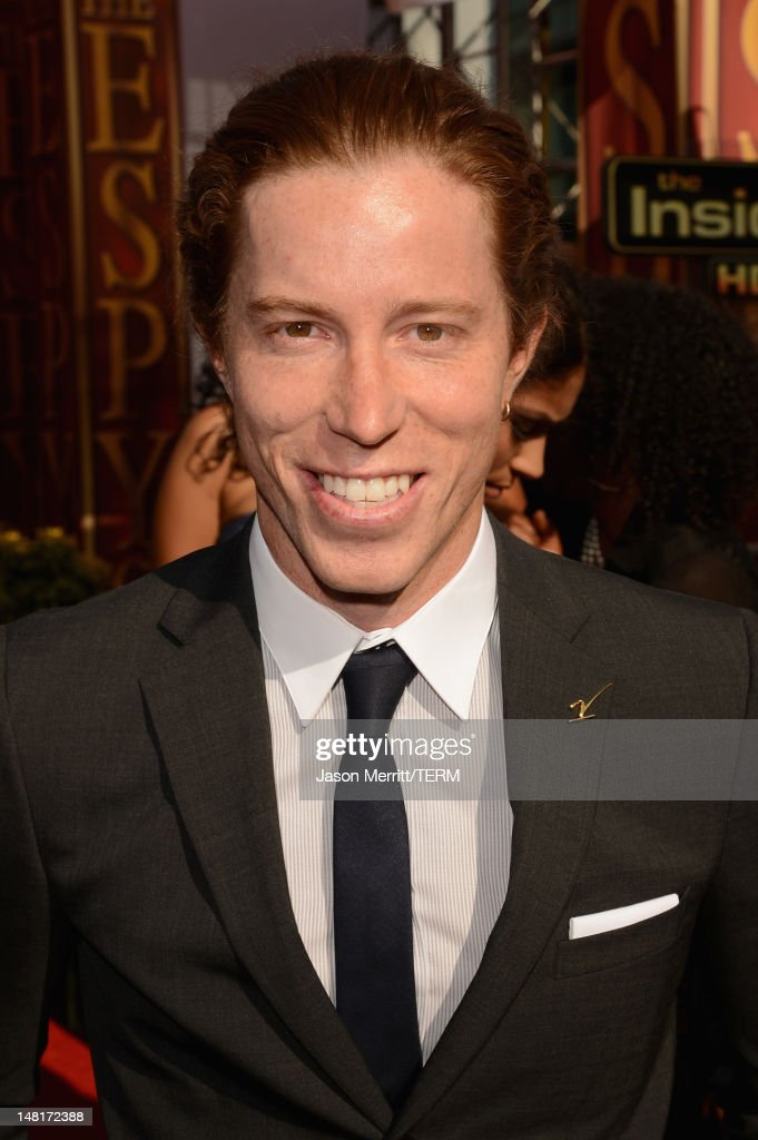 Olympic gold medalist Shaun White arrives at the 2012 ESPY Awards at Nokia Theatre L.A. Live on July 11, 2012 in Los Angeles, California.