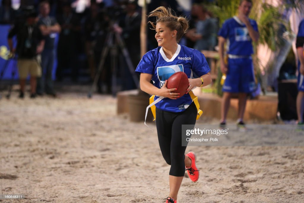 Olympic Gold Medalist Shawn Johnson attends DIRECTV'S Seventh Annual Celebrity Beach Bowl at DTV SuperFan Stadium at Mardi Gras World on February 2, 2013 in New Orleans, Louisiana.