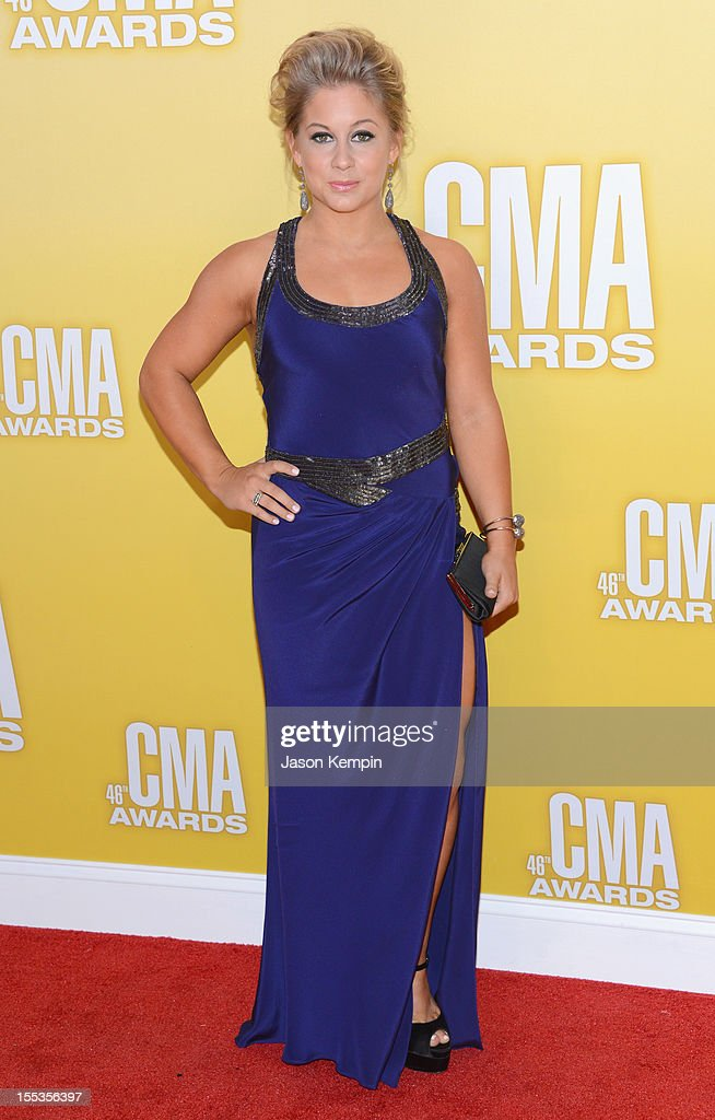 Olympic Gold medalist Shawn Johnson attends the 46th annual CMA Awards at the Bridgestone Arena on November 1, 2012 in Nashville, Tennessee.