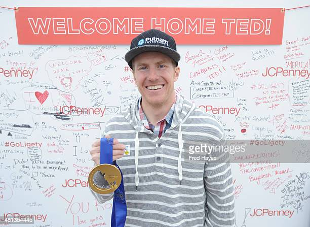 Olympic Gold Medalist Ted Ligety attends his 'Welcome Home' event hosted by JCPenney at Valley Fair Mall on March 29 2014 in West Valley City Utah