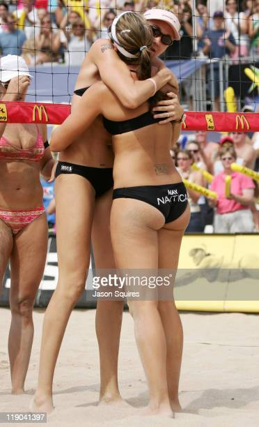 Olympic gold medalists Misty MayTreanor and Kerri Walsh celebrate their third consecutive Chicago Open victory and the first ever Nissan Championship...