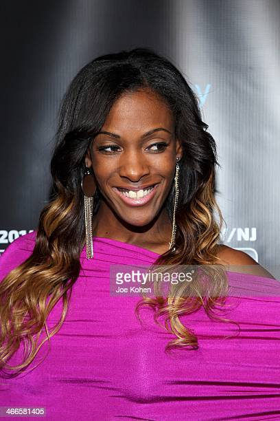 Olympic gold medallist DeeDee Trotter attends the 11th Annual 'Leather Laces' Party at The Liberty Theatre on February 1 2014 in New York City
