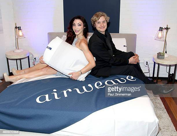 Olympic GoldMedalists Meryl Davis and Charlie White attend the first US store opening in SoHo of airweave on March 11 2015 in New York City