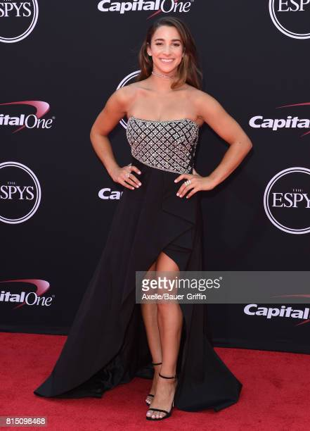 Olympic gymnast Aly Raisman arrives at the 2017 ESPYS at Microsoft Theater on July 12 2017 in Los Angeles California