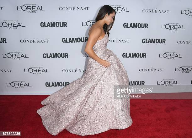 Olympic gymnast Aly Raisman attends Glamour's 2017 Women of The Year Awards at Kings Theatre on November 13 2017 in Brooklyn New York / AFP PHOTO /...