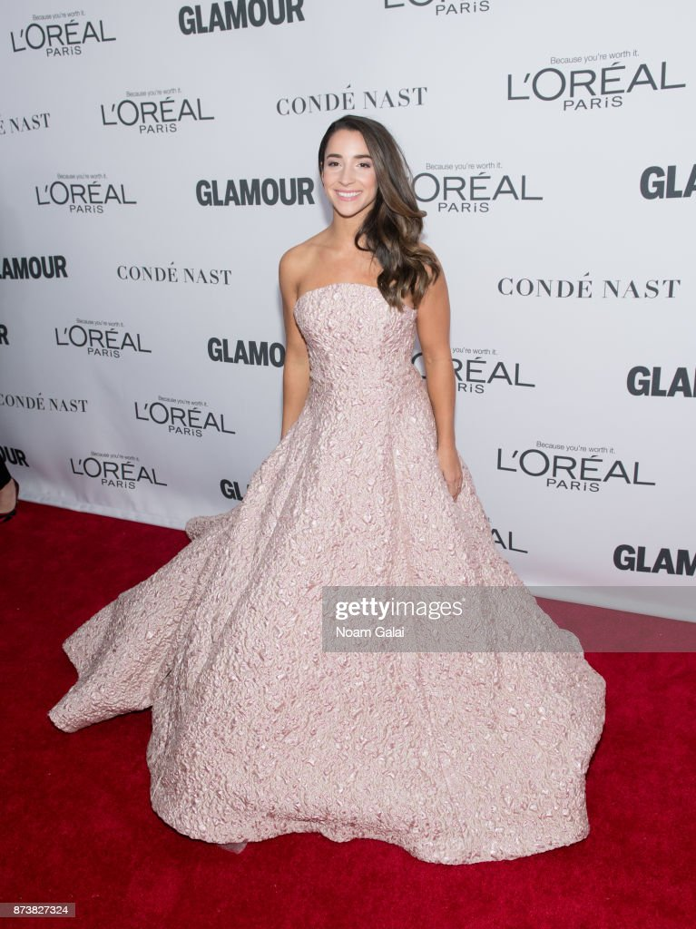 Olympic gymnast Aly Raisman attends the 2017 Glamour Women of The Year Awards at Kings Theatre on November 13, 2017 in New York City.