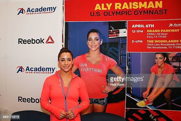 Olympic Gymnast Aly Raisman makes a special appearance at Academy Sports Outdoors in Katy TX on behalf of Reebok on April 6 2014