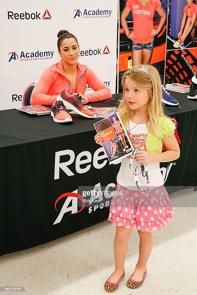 Olympic gymnast aly raisman makes a special appearance at academy