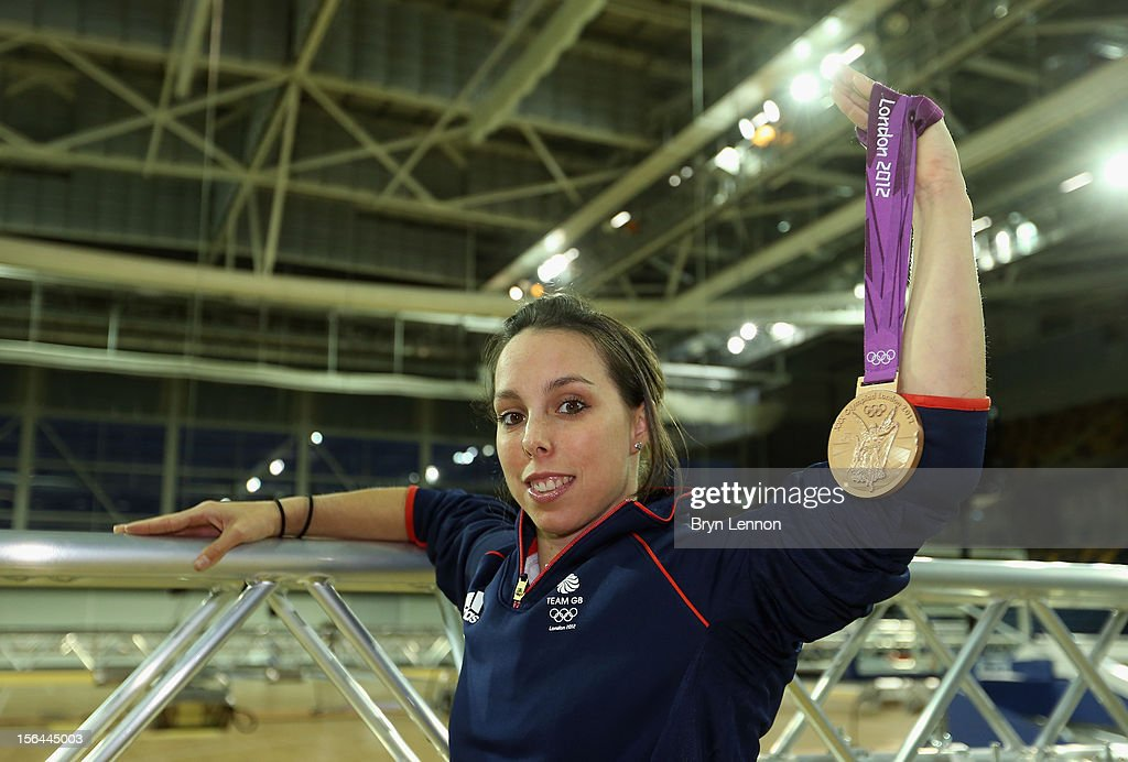 Olympic gymnast <a gi-track='captionPersonalityLinkClicked' href=/galleries/search?phrase=Beth+Tweddle&family=editorial&specificpeople=804240 ng-click='$event.stopPropagation()'>Beth Tweddle</a> poses in the Emirates Arena to promote December's Glasgow World Cup Gymnastics event during previews for the UCI Track Cycling World Cup at Sir Chris Hoy Velodrome on November 15, 2012 in Glasgow, Scotland.