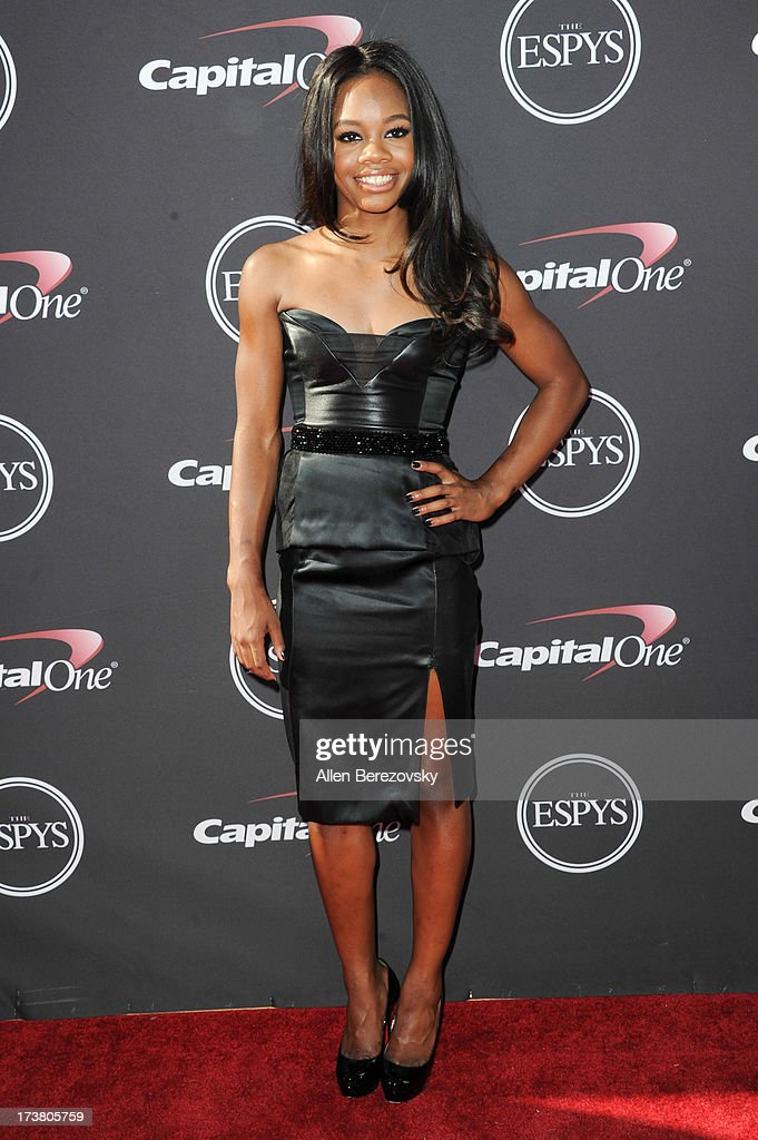 Olympic gymnast Gabby Douglas arrives at the 2013 ESPY Awards at Nokia Theatre L.A. Live on July 17, 2013 in Los Angeles, California.
