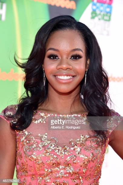 Olympic gymnast Gabby Douglas attends Nickelodeon Kids' Choice Sports Awards 2014 at UCLA's Pauley Pavilion on July 17 2014 in Los Angeles California