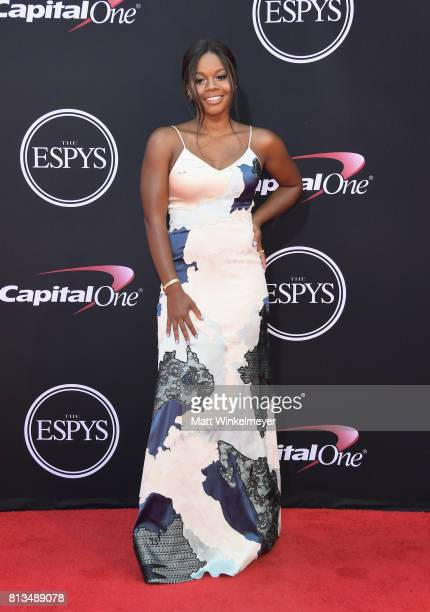 Olympic gymnast Gabby Douglas attends The 2017 ESPYS at Microsoft Theater on July 12 2017 in Los Angeles California