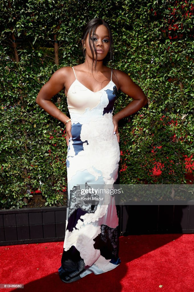 Olympic gymnast Gabby Douglas attends The 2017 ESPYS at Microsoft Theater on July 12, 2017 in Los Angeles, California.