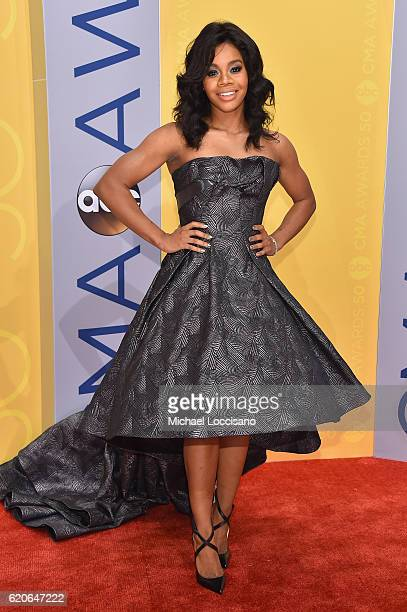 Olympic gymnast Gabby Douglas attends the 50th annual CMA Awards at the Bridgestone Arena on November 2 2016 in Nashville Tennessee