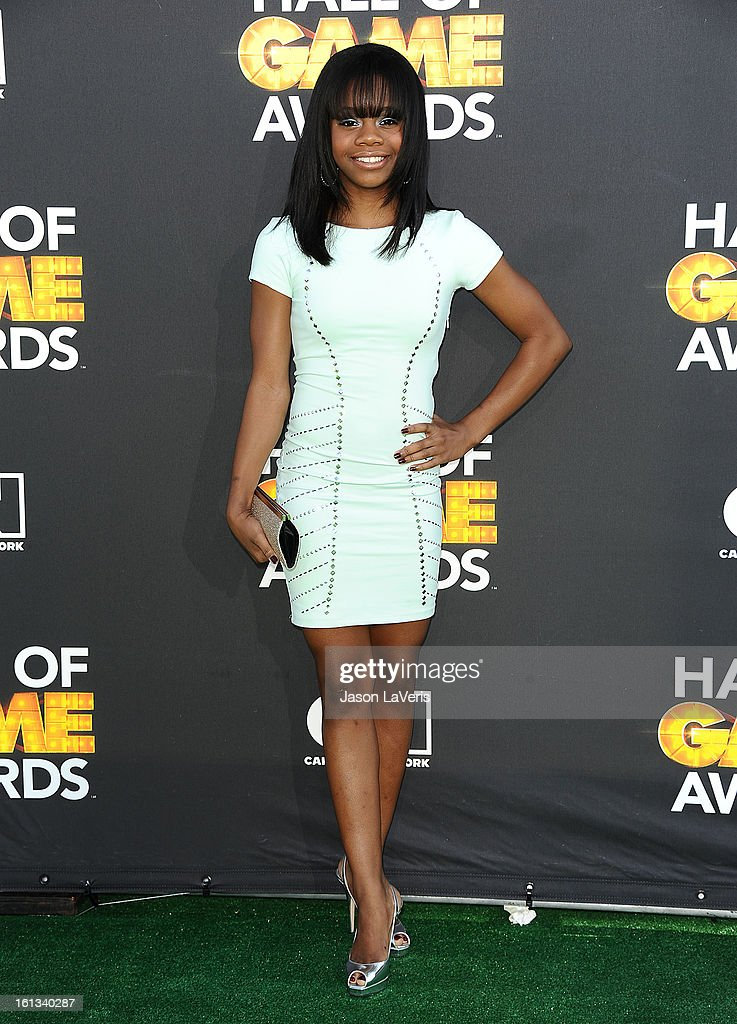 Olympic gymnast Gabby Douglas attends the Cartoon Network 3rd annual Hall Of Game Awards at Barker Hangar on February 9, 2013 in Santa Monica, California.