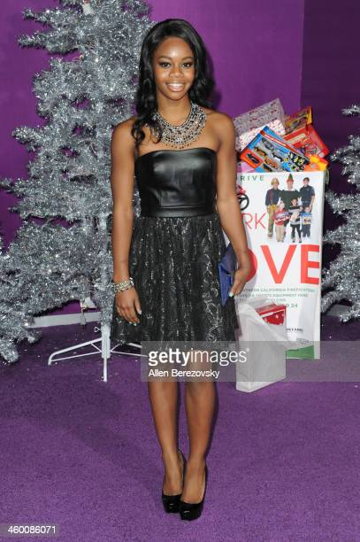 Olympic gymnast Gabby Douglas attends the premiere of Open Road Films' 'Justin Bieber's Believe' at Regal Cinemas LA Live on December 18 2013 in Los...
