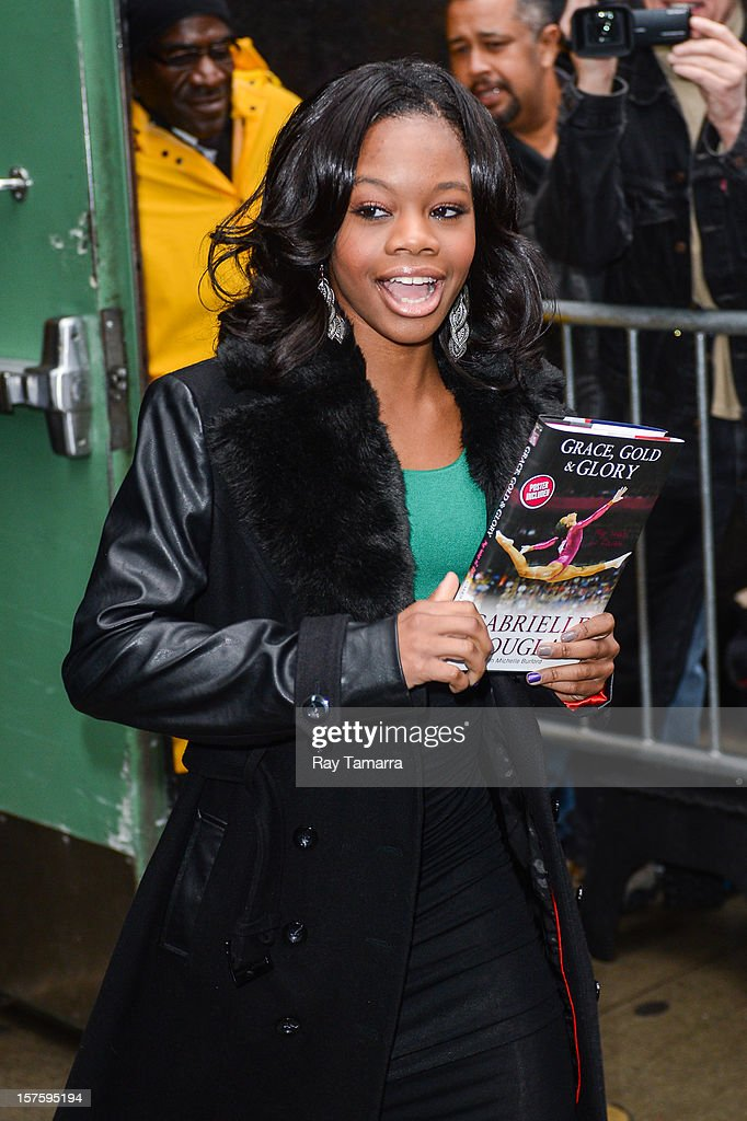 Olympic gymnast Gabby Douglas leaves the 'Good Morning America' taping at the ABC Times Square Studios on December 4, 2012 in New York City.