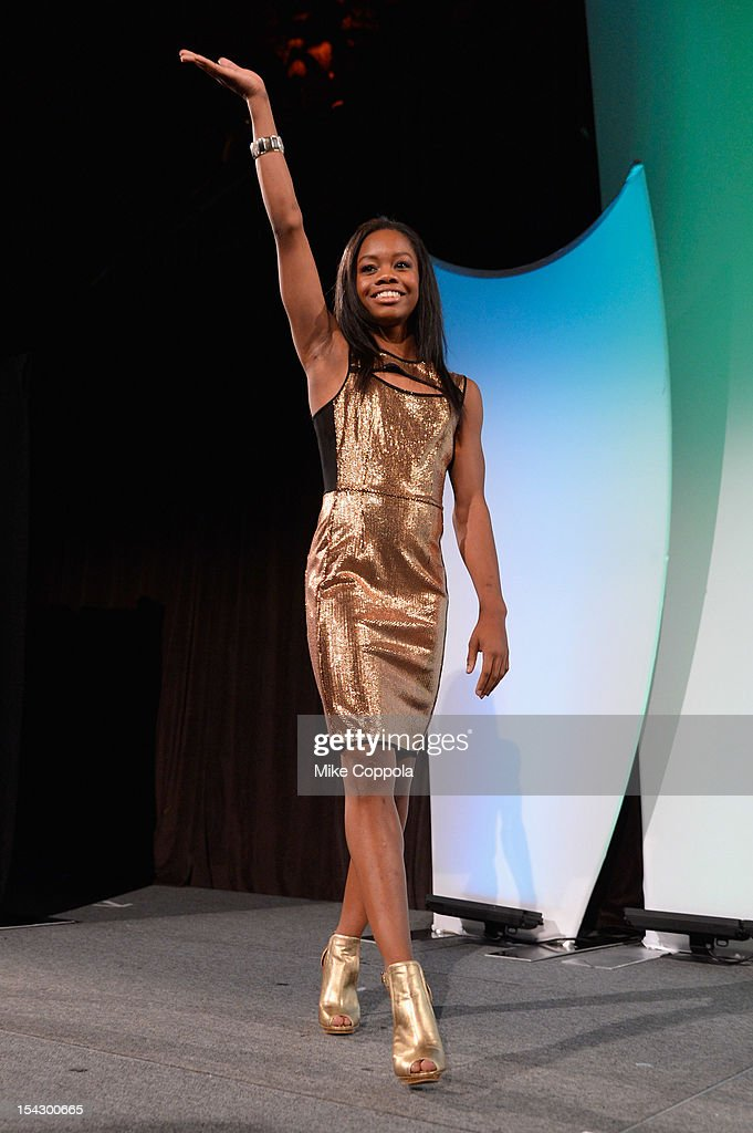 Olympic gymnast Gabrielle Douglas attends the 33rd Annual Salute To Women In Sports Gala at Cipriani Wall Street on October 17, 2012 in New York City.