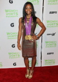 Olympic gymnast Gabrielle Douglas attends the 33rd Annual Salute To Women In Sports Gala at Cipriani Wall Street on October 17 2012 in New York City